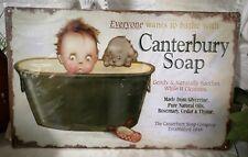 Blechschild Wandbild Canterbury soap 40cm Vintage SHABBY