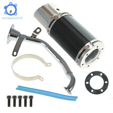Black Scooter Short Performance Exhaust System Carbon For Gy6 150cc Scooter Us