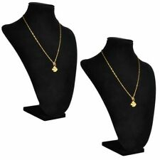vidaXL 2x Flannel Jewelry Holder Necklace Black Display Stand Necklace Stand