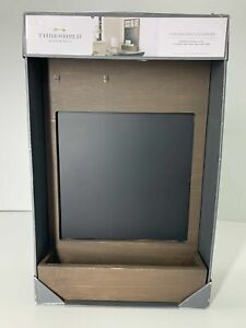 THRESHOLD Chalkboard Calendar NEW IN PACKAGE Distressed Brown Finish