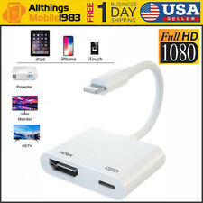 Lightning to HDMI Adapter Cable Digital Audio AV Converter For iPhone iPad 1080P
