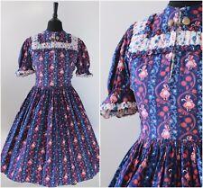Vintage 1950s Original Dress Swing Jive Novelty Folk Dancing Ladies  Dress 8 10