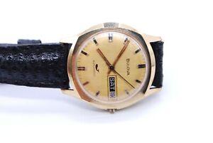 Bulova N2/N3 Swiss Mechanical Automatic Men's Watch Gold Plated *Missing Knob*