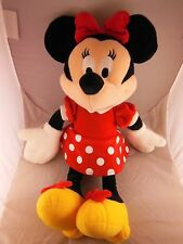 "Very Pretty 17"" Minnie Mouse Plush Doll in Red Polka Dot Dress & Yellow Shoes"