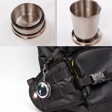 75ML Mini Stainless Steel Portable Collapsible Cup Telescopic Folded Cup Keyring