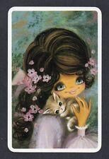 #920.256 Blank Back Swap Card -NEAR MINT- Joy, Girl with kitten