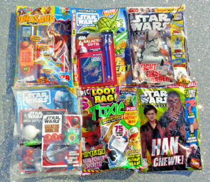 6 x TOXIC / STAR WARS / DINOSAUR MAGAZINE BACK ISSUES ~ NEW WITH GIFTS ~