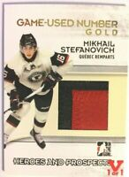 2009-10 ITG Heroes & Prospects Game-Used Number Gold Mikhail Stefanovich Vault