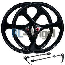 "26"" MTB Mountain Bike Mag Wheel Set Wheelset Rims Disc Brake 6/7 Speed Gear"