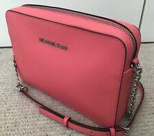 Michael Kors Large Messenger X-body Bag, Pink Saffiano Leather, BRAND NEW