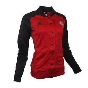 Louisville Cardinals NCAA Adidas Women's Black/Red Modern Varsity Anthem Jacket