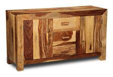 Living Room Furniture Cube Light Sheesham Large Sideboard (c6lw)