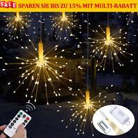 1-10X 120/180 LED Lichterkette Weihnachtsdeko Innen Außen Warmeweiß Beleuchtung
