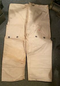 US NAVY MARK-V COMMERCIAL DEEP SEA DIVING HELMET SUIT CANVAS CHAFING PANTS