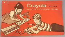 Vintage Crayola Crayons Creative Drawing Book Circa 1958
