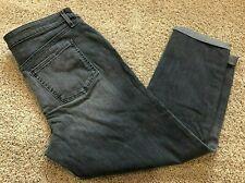 Womens Gray Denim Ava & Viv BOYFRIEND Crop Pant 14w