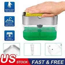 Portable Soap Pump Dispenser & Sponge Holder for Kitchen Dish Soap and Sponge Sl
