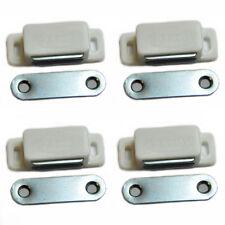 6x Magnet Schnapper Magnetschnapper Türmagnet Möbelmagnet Magnetverschluß weiß