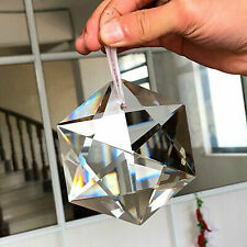 100mm Hexagram Large Crystal Chandelier Glass Prisms Pendant Hanging Decoration