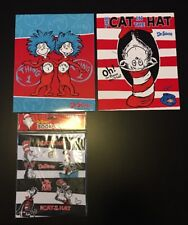 The Cat In The Hat Dr. Seuss Lot 2 Folders + 1 Book Cover