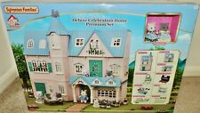 NEW Sylvanian Families DELUXE Celebration Home GIFT SET w/2 Cats + Furniture