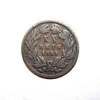 KM# 527 - 20 Reis - Luíz I - Portugal 1883 (F)