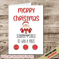 CHRISTMAS GREETING CARD Fun Gift Personalised SCRATCH AND REVEAL Santa Kids 153