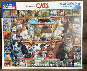 The World of Cats 1000 PC Jigsaw Puzzle White Mountain fast free shipping 2012