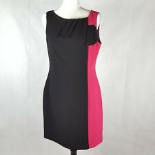 Review Dress Size 12 Black Pink Colour Block Sheath