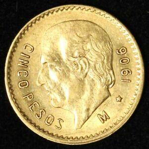 1906 Mexico Gold 5 Peso - Free Shipping USA