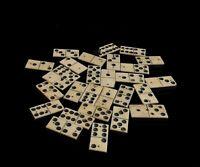Antique bovine bone dominoes, Edwardian era