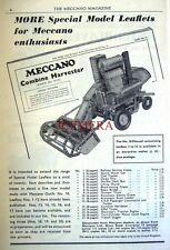 1955 Meccano Construction Sets Advert Combine Harvester - Vintage Print AD