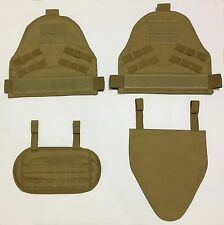 New Airsoft Molle SpecOps Shoulder Protector Pads + G Protector Pad Sets Coyote