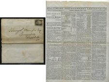 US  #73  on  folded  Baltimore  price list  1867     BB0623