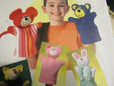BUTTERICK HAND PUPPETS PATTERN SEVEN DIFFERENT PUPPETS MOUSE PIG MONKEY CAT +