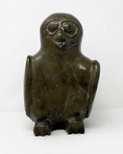 LARGE PERCHED OWL INUIT SCULPTURE KINGAIT CAPE DORSET