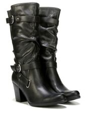 White Mountain Gavin mid calf boots motorcycle riding boots black sz 9.5 Med NEW