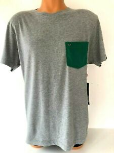 TRUE RELIGION Contrast-Pocket Cotton-Jersey T-Shirt Grey/Green Pocket