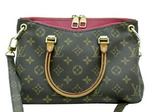 Louis Vuitton Pallas BB Bag Monogram Brown Red