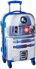 Hard Side Luggage Carry On Star Wars R2D2 C3PO Robot Spinner Wheels Suitcase Kid