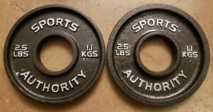 Sports Authority Olympic Barbell Weights - Pair of 2.5 Lb Plates