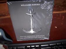 New Williams Sonoma Pewter Corkscrew Anchor With Cover Made In Italy