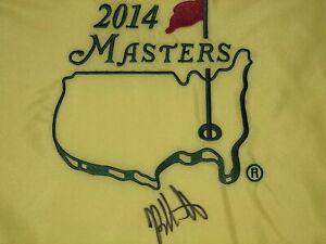 Bubba Watson Signed Autographed 2014 Masters Flag Golf JSA COA