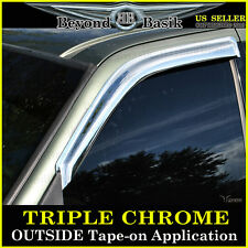 1997-2003 Ford F-150 2DR Reg/4DR Ext Cab 2PC Chrome Door Vent Visors Rain Guards