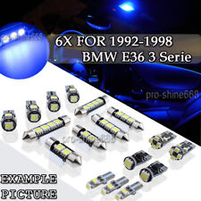 6PCS Canbus Blue Interior LED Light Package For 1992-1998 BMW E36 3 Serie PL