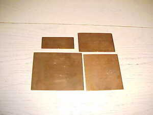 Vintage Copper Engraving Plates Wedding Lot 4 Printing 2/3/51 New Haven CT