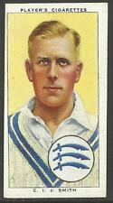 PLAYER'S 1938 CRICKETERS C.I.J. Smith Card No 24 of 50 CRICKET CIGARETTE CARDS