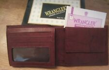 MEN'S WRANGLER GENUINE BROWN LEATHER BIFOLD WALLET ORIGINAL GIFT BOX NEW 363465
