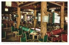 JAPAN Hotel Lounge Typical Japanese Architecture View of Mt. Fuji Postcard A5d