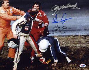 Cale Yarborough Bobby Donnie Allison SIGNED 11x14 Photo NASCAR PSA/DNA AUTOGRAPH